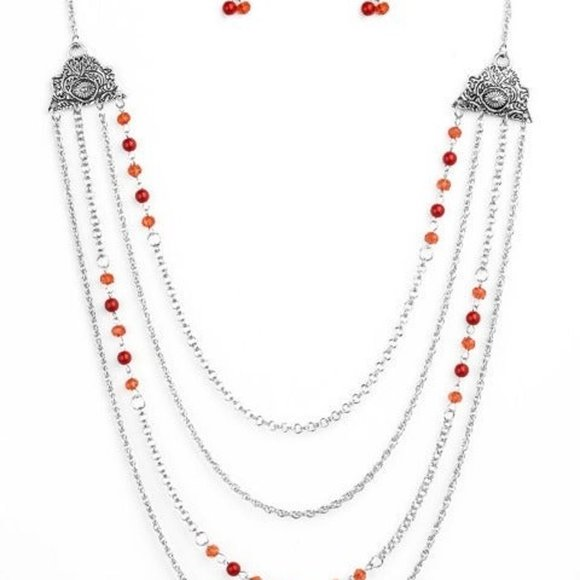 Pharaoh Finesse Red Necklace